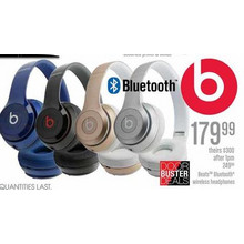 Beats Bluetooth Wireless Headphones (Black)