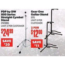 PDP by DW Straight Cymbal Stand (800 Series)