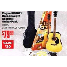 Rogue RD80PK Dreadnought Acoustic Guitar Pack