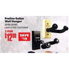 Proline Guitar Wall Hanger (Assorted) 2 for $12.00