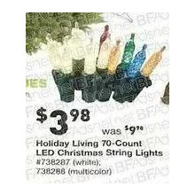 Holiday Living 70-ct. Mini LED Christmas String Lights (White)