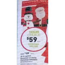 Gemmy 12-ft. Lighted Snowman Christmas Inflatable