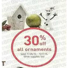 Ornaments (Assorted) 30% Off