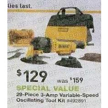 DEWALT 29-pc. 3-Amp Oscillating Tool Kit