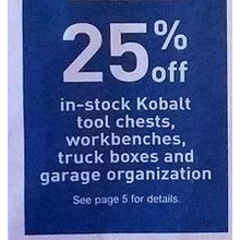 Kobalt Garage Organization 25% Off