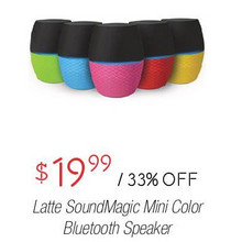 Latte Sound Magic Mini Color Bluetooth Speaker