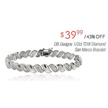 DB Designs 1/2-cttw. Diamond San Marco Bracelet