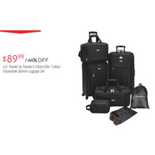 Travelers Choice Elite US Traveler 7-pc. Expandable Spinner Luggage Set