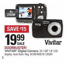 Vivitar 16.1 Megapixel Digital Camera