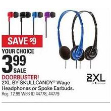 2XL by Skullcandy Wage On-Ear Headphone (Black)