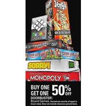 Board Games (Assorted) BOGO 50% Off
