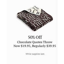 Chocolate Quotes Throw