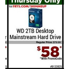 WD 2TB Desktop Mainstream Hard Drive