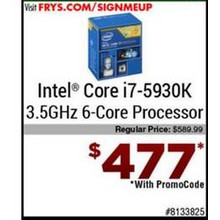 Intel Core i7-5930k 3.5GHz 6-Core Processor