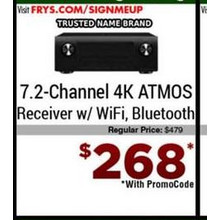 7.2-Channel 4K ATMOS Receiver w/ Wi-Fi Bluetooth