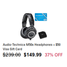 Audio-Technica M50x Headphones + $50 Visa Gift Card