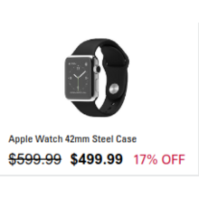 Apple Watch 42mm Steel Case