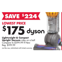 Dyson Refurbished Lightweight & Compact Upright Vacuum