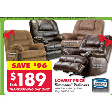 Simmons Lowell Recliners