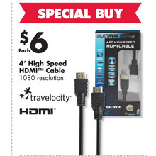 High Speed 4-ft. HDMI Cable
