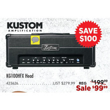 Kustom Amplification KG100HFX Head