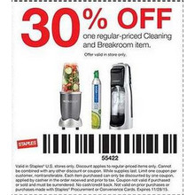 30% off one Regular-Priced Cleaning or Breakroom Item