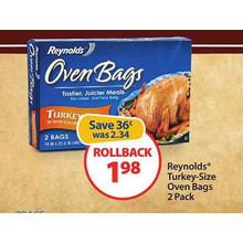Reynolds Turkey Size Oven Bags, 2 ct