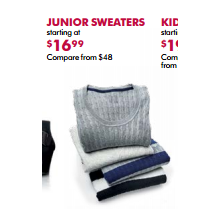 Junior Sweaters - From $16.99