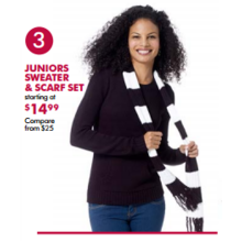 Juniors Sweater & Scarf Sets (Assorted Styles) - From $19.99