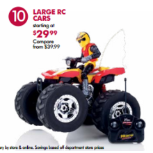 Large RC Cars (Assorted) - From $29.99