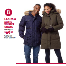 Ladies Winter Coats (Assorted) - From $69.99