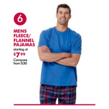 Mens Fleece & Flannel Pajamas (Assorted) - From $7.99
