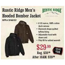 Rustic Ridge Men's Hooded Bomber Jacket