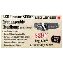 LED Lensor SEO5R Rechargeable Headlamp