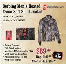 Gerbing Mens Heated Camo Soft Shell Jacket