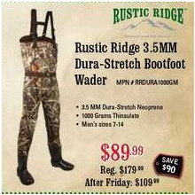 Rustic Ridge 3.5mm Dura-Stretch Bootfoot Wader