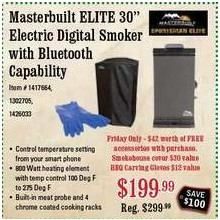 Masterbuilt Elite 30-in. Electric Digital Smoker w/ Bluetooth Capabilities