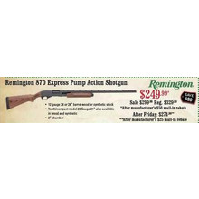 Remington 870 Express Pump Action Shotgun
