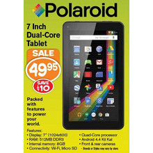 Polaroid 7 Inch Dual-Core Tablet