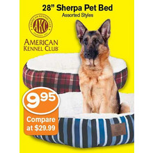 "28"" Sherpa Pet Bed"