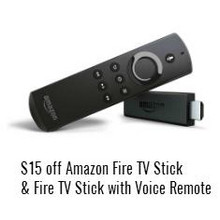 Amazon Fire TV Stick w/ Voice Remote $15 Off