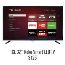"TCL 32"" Roku Smart LED TV"