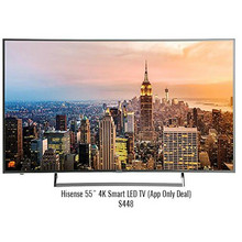 "Hisense 55"" 4K Smart LED TV (App Only Deal)"