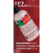 Philosophy 3-in-1 Shampoo, Shower Gel & Bubble Bath 16-oz.