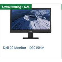 "Dell 20"" Monitor D2015HM"