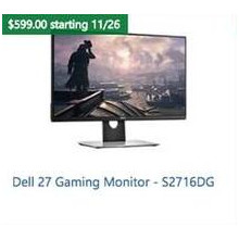 "Dell 27"" Gaming Monitor S2716"
