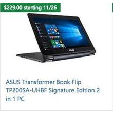 ASUS Transformer Book Flip TP200SA-UHBF Signature Edition 2-in-1 PC
