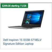 Dell Inspiron 15 i5558-5718SLV Signature Edition Laptop