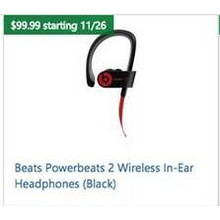 Beats Powerbeats 2 Wireless In-Ear Headphones (Black)
