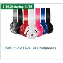 Beats Studio Over-Ear Headphones (Assorted Colors)